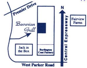 directions to Bavarian Grill German Restaurant in Plano, Texas